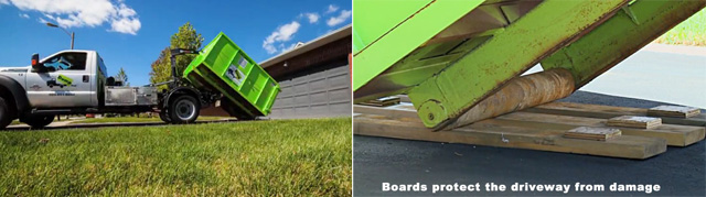 Dumpster-rental-driveway-protection